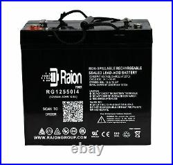 Raion 12V 55Ah Battery For Palmer Industries Deluxe Power Chair 22NF AGM 2 PK