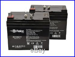 Raion Power 2 Pack 12V 35AH Jazzy Select GT Power Chair Scooter Battery