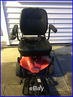 Red Jazzy Select Elite Es Power Chair Wheelchair With New Battery Runs Great