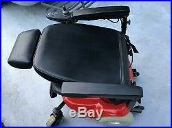 Shoprider Electric Wheelchair Red & Black Leather Seat Foldable New Battery