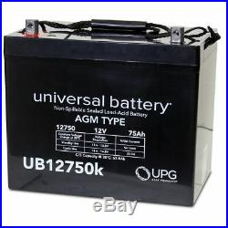UB12750 12V 75Ah Jazzy 1104 1120 1170 XL Plus 1650 Scooter Power Chair Battery