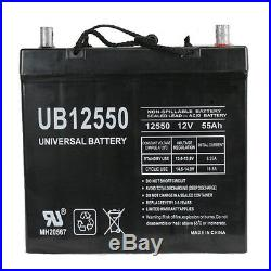 UPG 12V 55Ah Replacement Battery for Pride Mobility QUANTUM 1122 Powerchair
