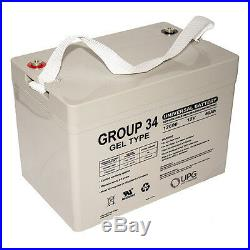 UPG 12V 60Ah Group 34 Replacement Battery For Power Wheelchair