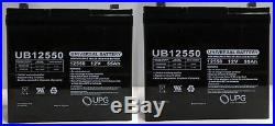 UPG 2 Pack 12V 55Ah Active Care Wildcat 450 Power Chair Scooter Battery