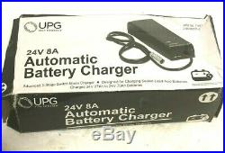 UPG 24 Volt 8 Amp Connector XLR Battery Charger for Most Power Wheelchairs