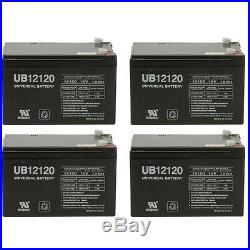 UPG 4 Pack 12V 12Ah F2 BATTERY PRIDE JAZZY POWER CHAIR Z-CHAIR