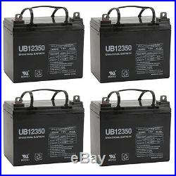 UPG 4 Pack 12V 35AH Battery For The Jazzy Sport 2 Electric Wheelchair