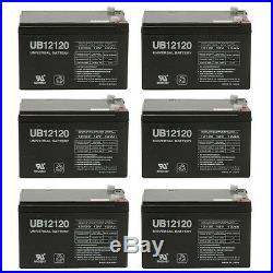 UPG 6 Pack 12V 12 Volt 12ah Ebike Electric Scooter Wheelchair Mobility Battery