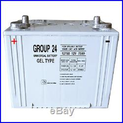 UPG Group 24 Gel Type Battery 12V 75Ah for Quickie G-424 Power Wheelchair