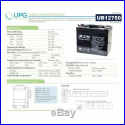 UPG UB12750 12V 75AH Group 24 Battery Scooter Wheelchair Golf Cart Electric DC