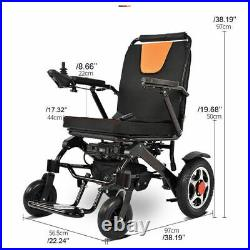 US Electric Wheelchair Folding Portable Lightweight Power Aid Motorized+Battery