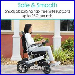 Vive Deluxe Folding Portable Power Wheelchair with Lithium Ion Battery