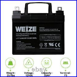 Weize 12V 35Ah U1 Batteries Electric Wheelchair Scooter Pair 2