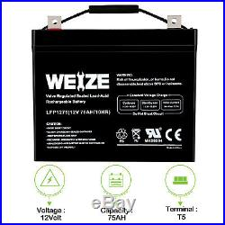 Weize 12V 75AH Battery Deep Cycle UB12750 for Pride Mobility Jazzy Power Chair
